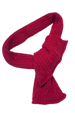 red scarf isolated on white photo