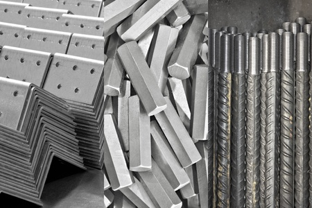 manufacturing materials: background: pile of metal details