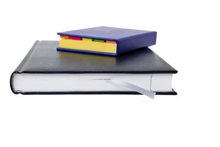i pad: 2 note books isolated on white background