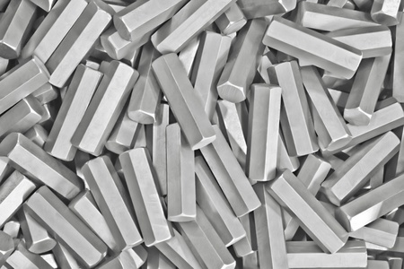 hard alloy: background: pile of metal details