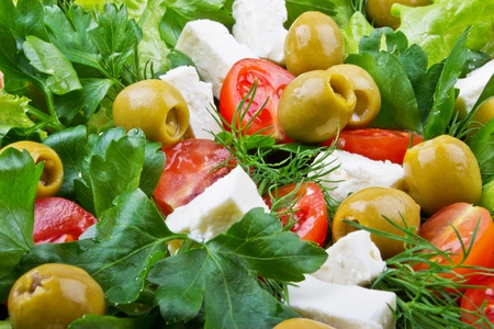 Healthy salad with fresh vegetables  Banque d'images