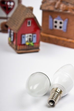 energy saving lightbulbs, house energy saving concept Stock Photo - 13026412
