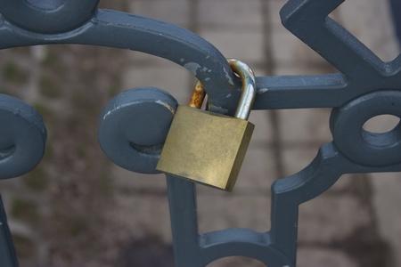 love lock on the bridge  photo