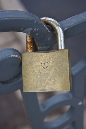 love lock on the bridge