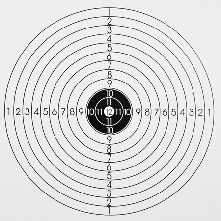 the center of the target