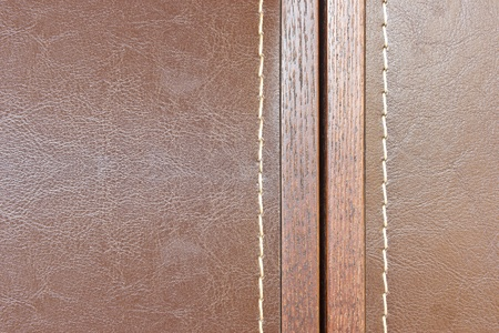 wood and leather background with sem photo