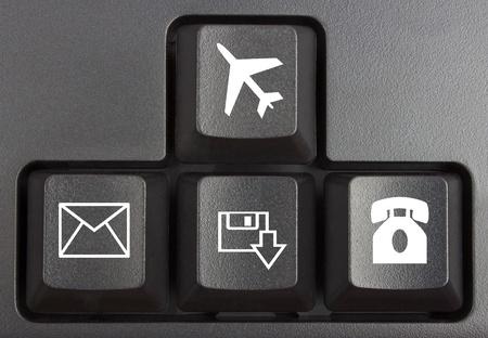 black keyboard close up, computer keys on keyboard photo