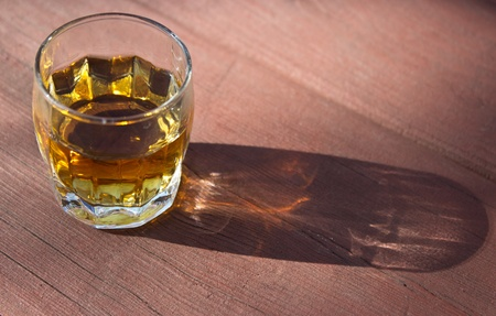 picnick: picnick, the glass of brandy on the wooden table