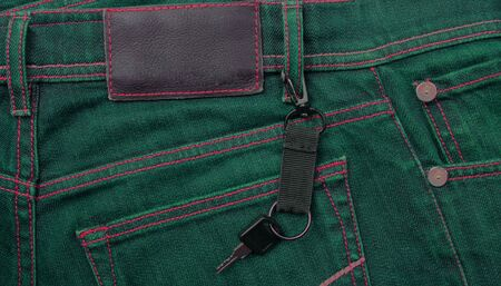 jeans with label and key photo