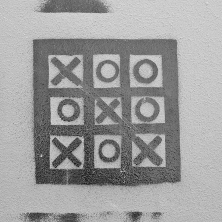 Tic Tac Toe on the wall photo