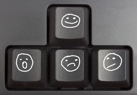 typer: black keyboard close up, computer keys on keyboard Stock Photo