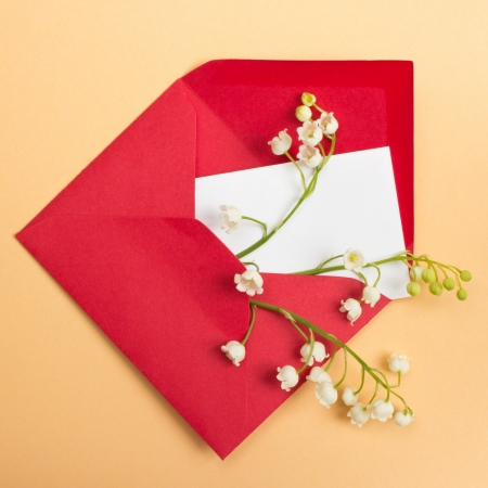 Lily of the valley and the envelope, Love letter photo