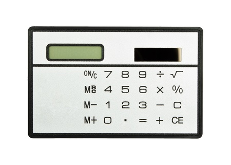 A grey calculator isolated on a white background, calculator Stock Photo - 13902405