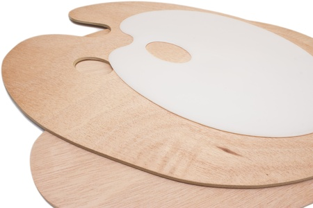 pallette: Photo d'une palette d'artistes en bois et en plastique
