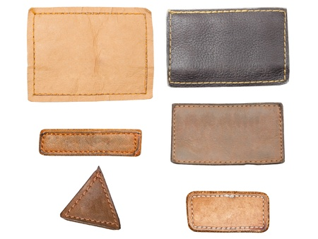 Blank leather, textile jeans labels Stock Photo - 14295929