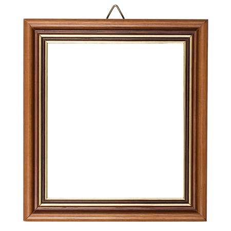 Classic wooden frame isolated on white bakground