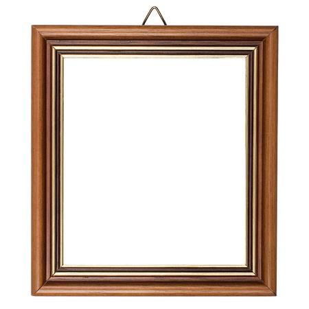marcos decorados: Marco de madera cl�sico aislado en blanco bakground