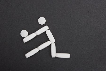 Sport Symbol made of pills.   photo