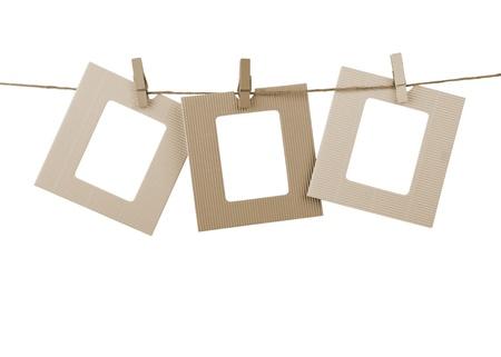 blank photo frame isolated on background