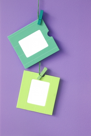 2 paper frames on the wall background photo