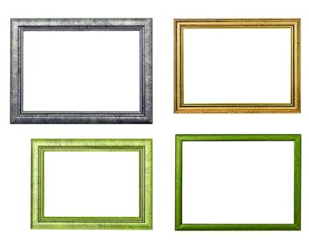 four frames on white background Stock Photo