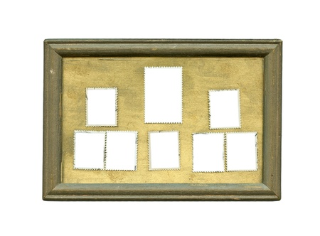 an old wooden frame on white with clipping path   photo