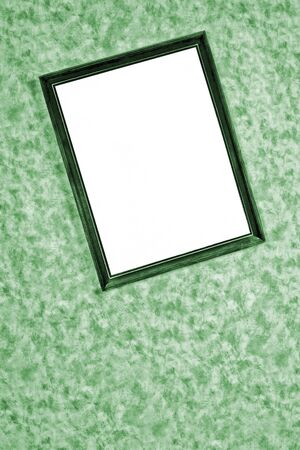 splotchy: old  framemirror on the wall background Stock Photo