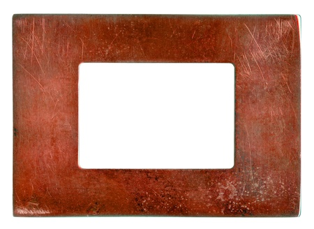 old metal frame isolated on white background Stock Photo