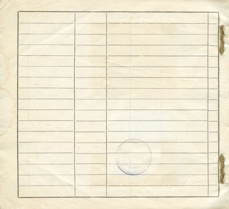 scratch pad: empty blank form, special filling form book  Stock Photo