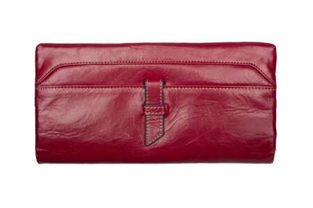 Modern red wallet isolated on white background  photo