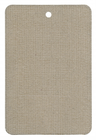 tela algodon: Etiqueta en blanco con textura, aislado