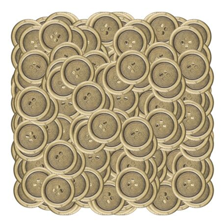 metal sewing buttons, isolated on white background photo
