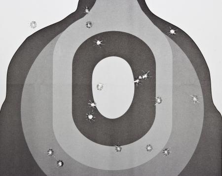 blanco para el tiro con pistola pr�ctica, ejercer Foto de archivo - 16240532