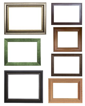 the set of frames isolated on white background photo