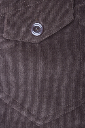 trouser: Fragment of jeans with pocket, Trouser pocket of brown corduroys.  Stock Photo
