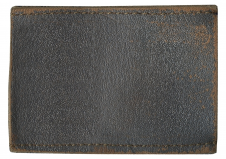 zigzagger: Blank leather jeans label, isolated.