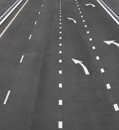 Asphalt road and white line markings,Asphalt road texture photo