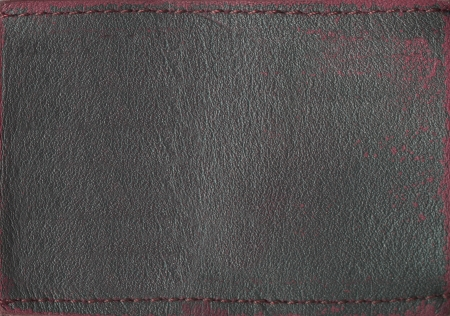 zigzagger: Blank leather jeans label, isolated