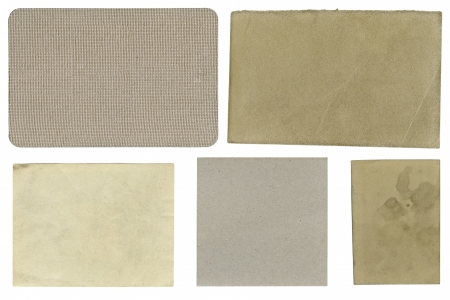 Blank textured labels, isolated Stock Photo - 16863086