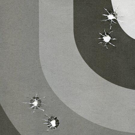 practical: target for practical pistol shooting Stock Photo