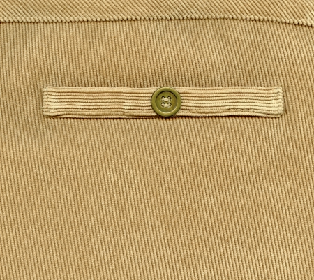 trouser: Fragment of pocket, Trouser pocket of brown corduroys