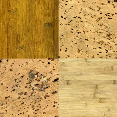 the set of wood and cork-board background textures photo