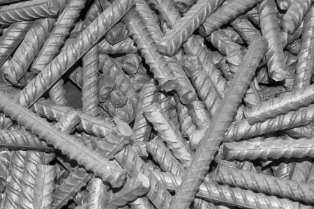 threaded metal rod, close up of screw thread  Stock Photo - 17126278