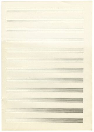 a note paper for musical notes isolated on a white background Stock Photo - 17126357