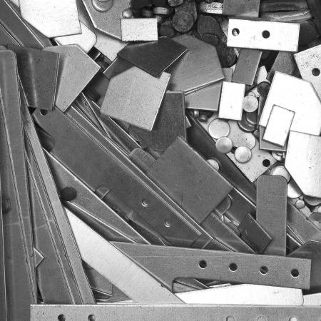 background: pile of metal details  photo