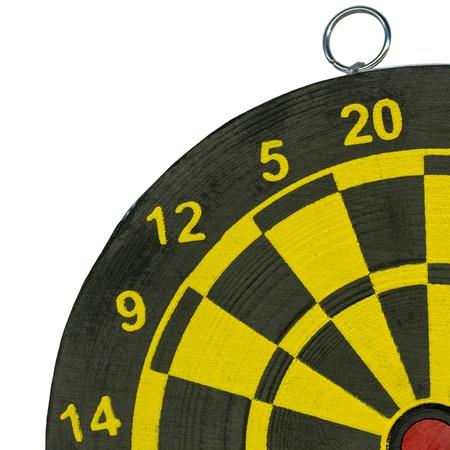 boring frame: Part of dartboard close up