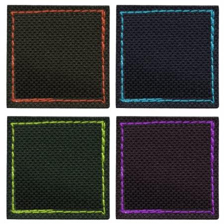 zigzagger: Blank textured label, isolated, set