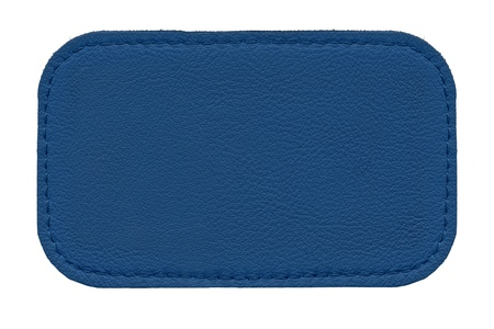 zigzagger: leather label isolated on white background