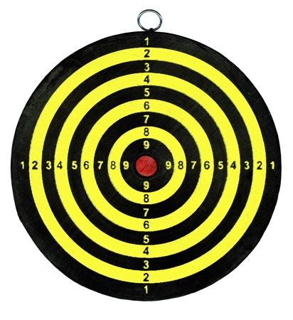 boring frame: target isolated on white background, dartboard close up
