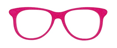 Photo of pink glasses isolated on white background with clipping parths Stock Photo